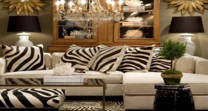 Vintage Inspired Home Decor Zebra Print Living Room