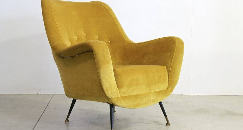 Vintage Italian Mustard Colored Armchair Sale Pamono
