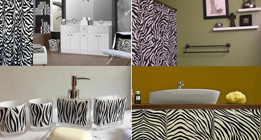 Vivacious Zebra Print Bathroom Ideas Elegant
