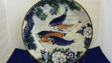 Wall Art Koi Fish Home Decor Hand Painted