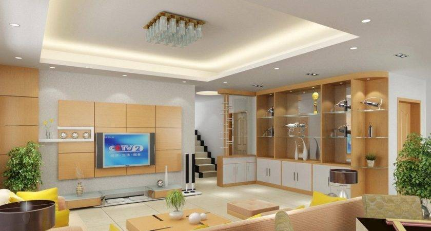 Wall Cabinet Design Chinese Villa Living Room
