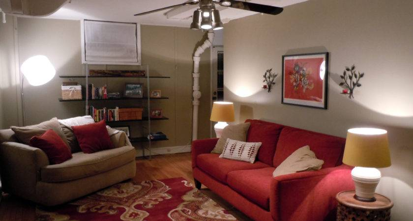 Wall Color Goes Gray Red Furniture Best