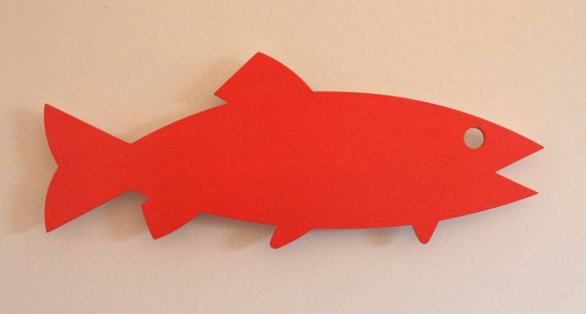 Wall Fish Painted Wood