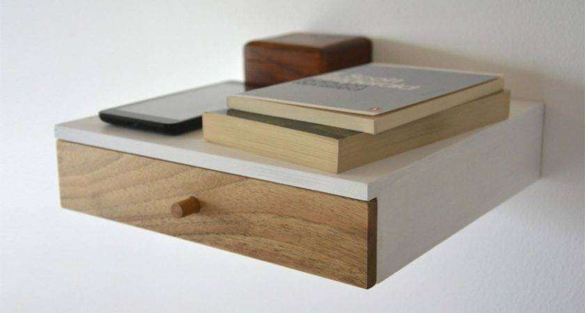 Wall Shelves Floating Drawers