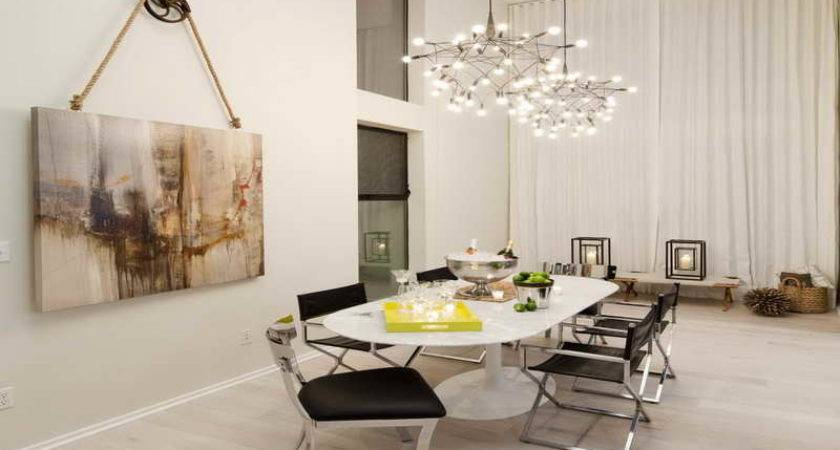 Wall White Color Dining Room Decor Ideas