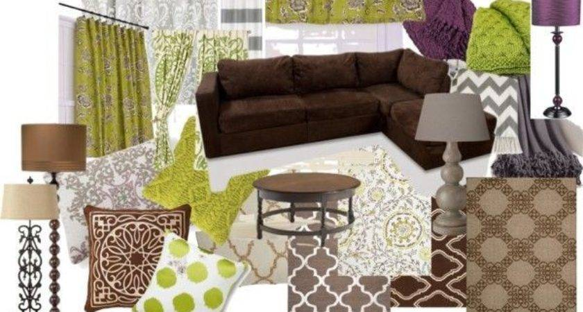 Warm Living Room Ideas Color Scheme Brown Green Purple
