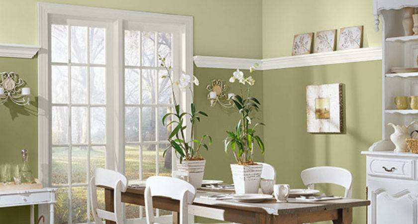 Warm Paint Color Ideas Dining Room Wainscoting