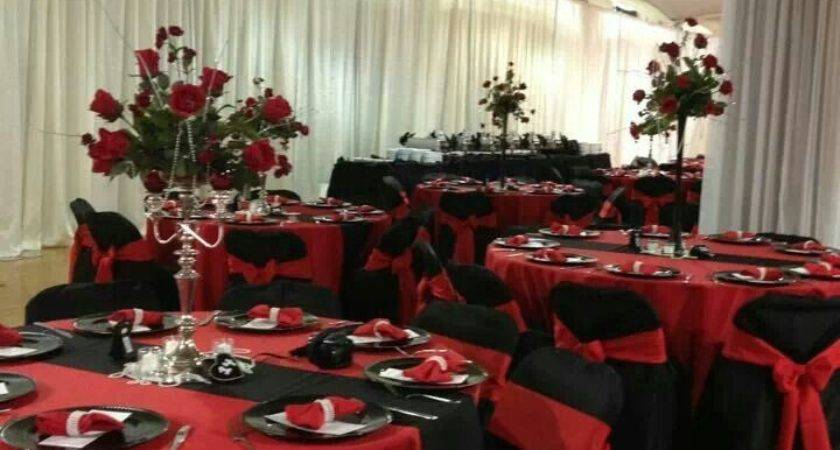 Wedding Decoration Ideas Red Black White Decor Accents