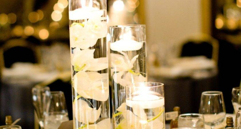 Wedding Flowers Centerpiece Feat Floating Candles Tall