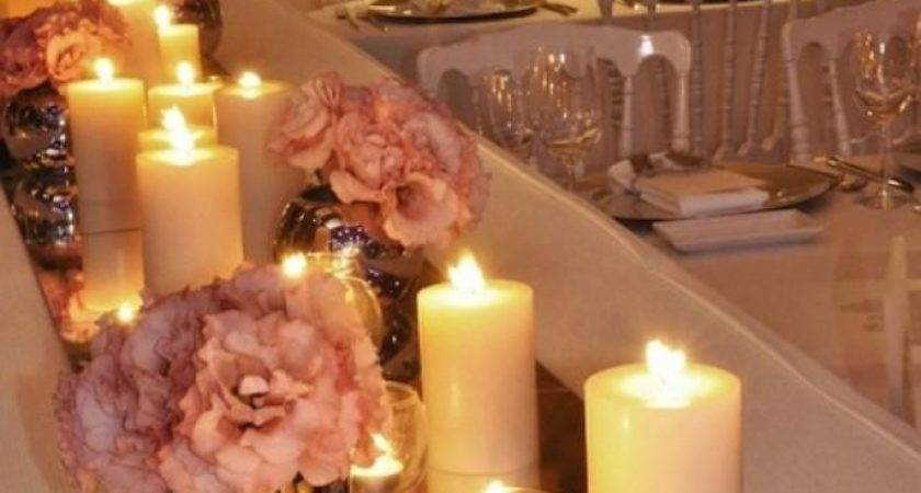 Wedding Nail Designs Mirrored Tiles Table Runners