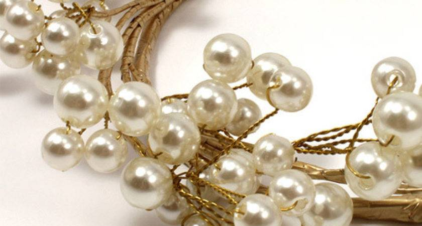 Wedding Reception Table Decorations Pearl Ring