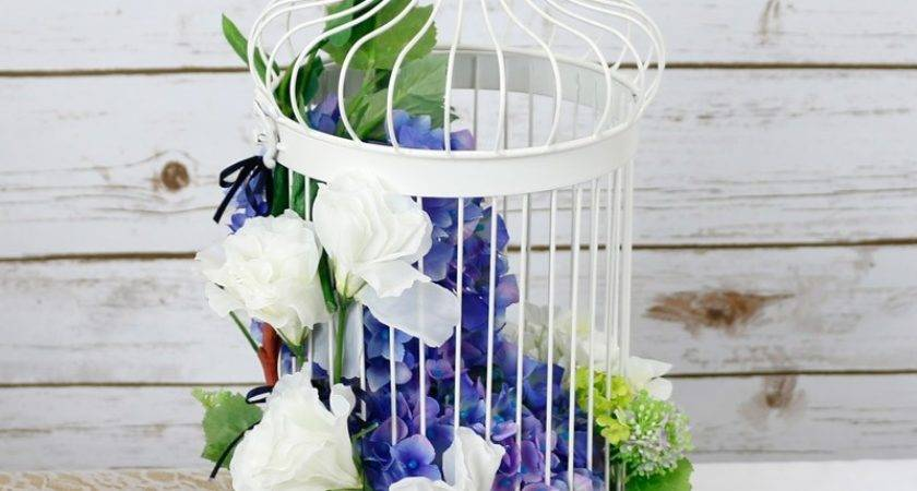 White Bird Cage Decor Cages