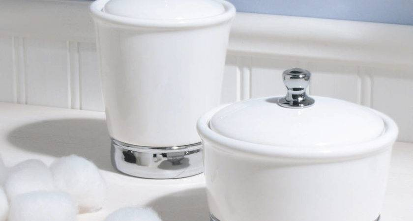 White Ceramic Bathroom Storage Jar Jodie Byrne
