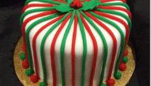 White Christmas Red Green Cake Decor Comment