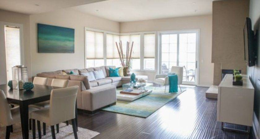 White Coupled Turquoise Gives Bachelor Pad