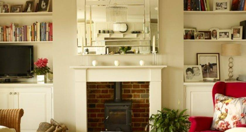 White Cranberry Living Room Decorating