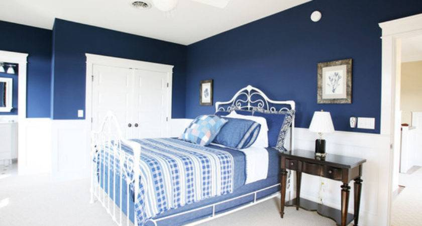 White Dark Blue Bedroom Color Beautiful Homes Design