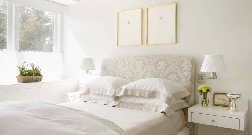 White Floating Bedside Table Home Ideas Designs