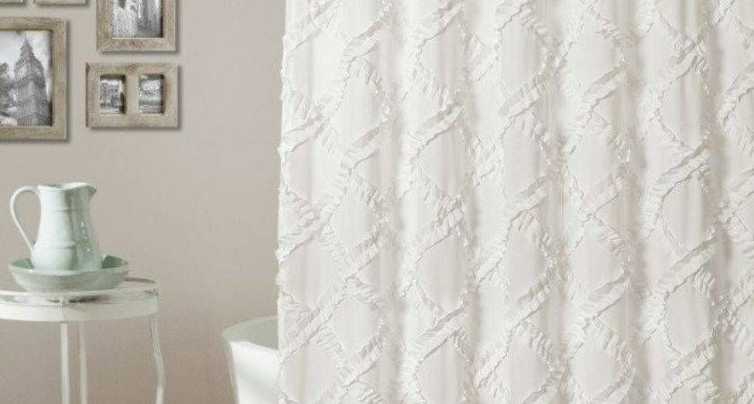 White Frilly Shower Curtains Curtain Menzilperde