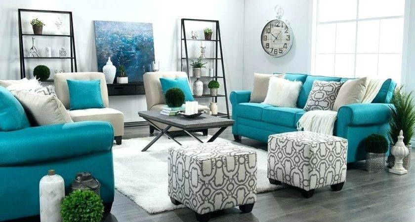 White Grey Teal Living Room Decor Best Wiring