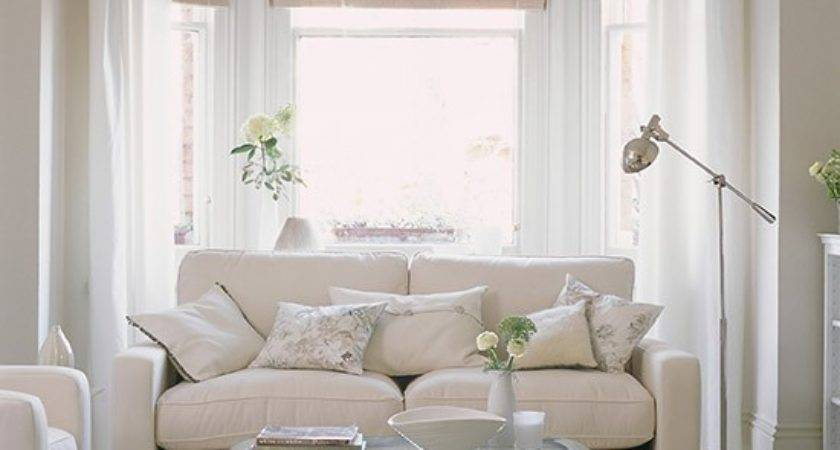 White Living Room Clear Furniture