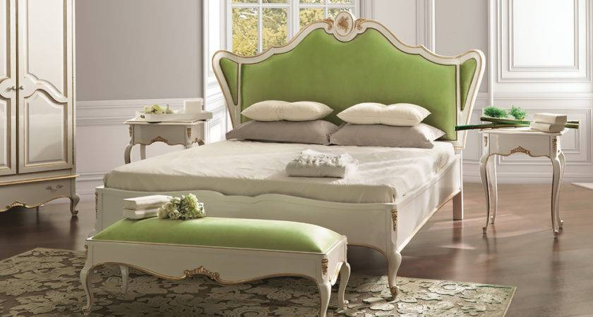 White Louis Reproduction Winged Luxury Bed Juliettes