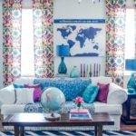 White Wall Color Eclectic Living Room Decorating Ideas