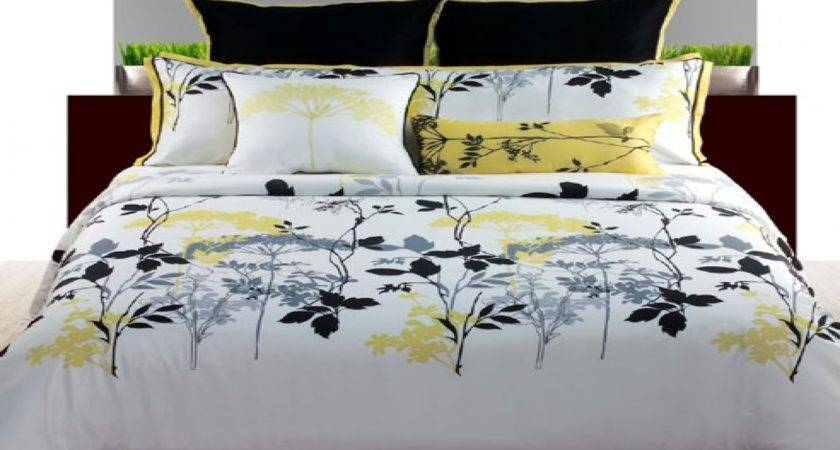 White Yellow Comforter Sets