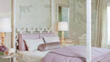 Wicker Stitch Bedroom Scheme Mauve Ice Blue