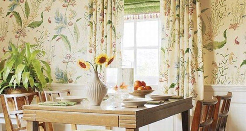 Wild Flower Motifs French Country Style Windows