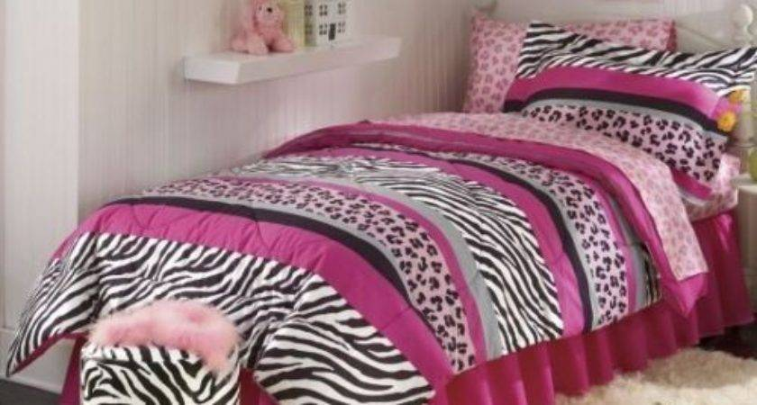 Wild Zebra Animal Print Safari Black Pink Bed Bag
