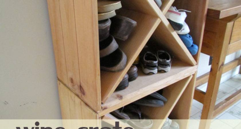 Wine Crates Turned Shoe Storage Decor Hacks