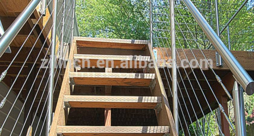 Wire Cable Stainless Steel Stair Railing Indoor
