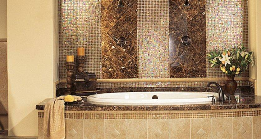 Wonderful Ideas Gold Bathroom Wall Tiles