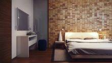 Wood Block Feature Wall Interior Design Ideas