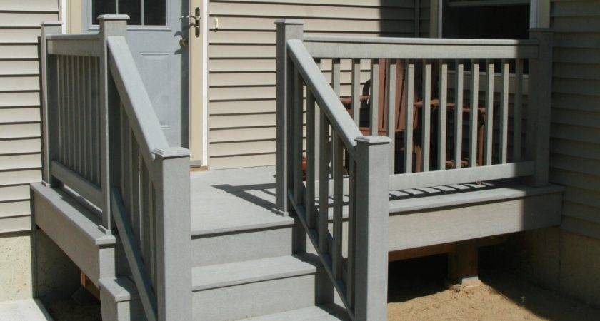 Wood Stair Railing Exterior Outdoor