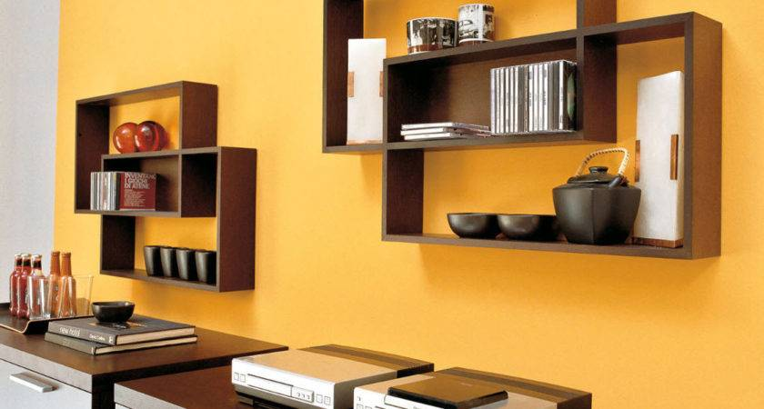 Wooden Shelves Walls Country Decosee