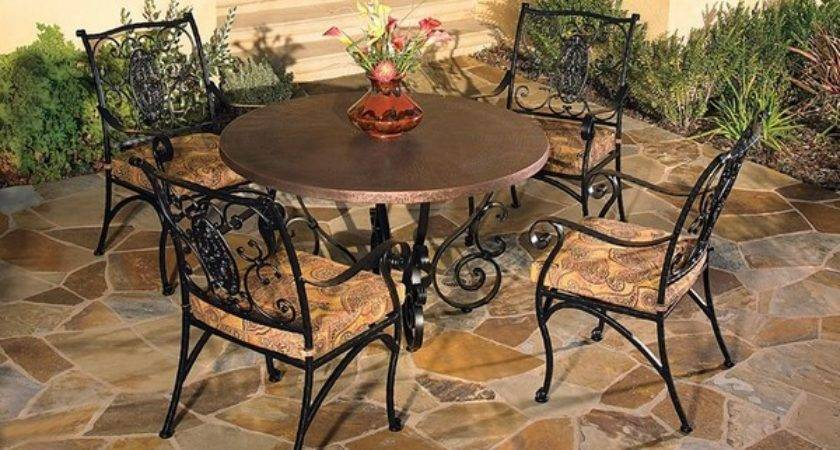 Wrought Iron Patio Furniture Sets Stylish Outdoor
