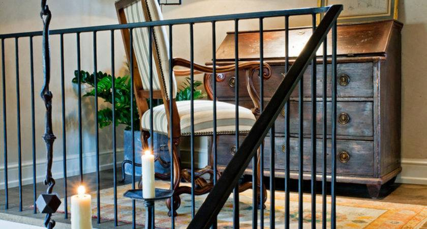 Wrought Iron Stair Railings Interior Traditional