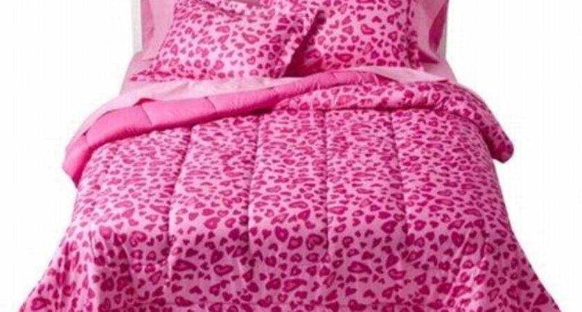 Xhilaration Bed Bag Pink Cheetah Comforter Sheet