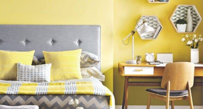 Yellow Bedroom Wall Theme Design Appropriate Decor
