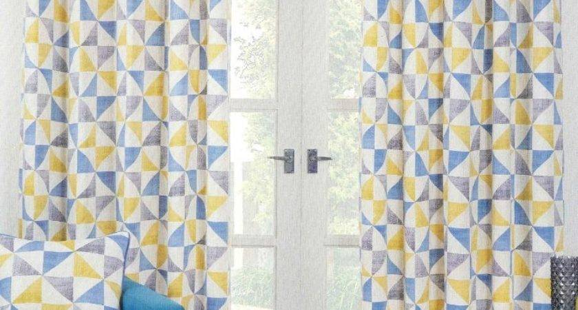 Yellow Blue Curtains Jayne Pearce Soft Furnishings