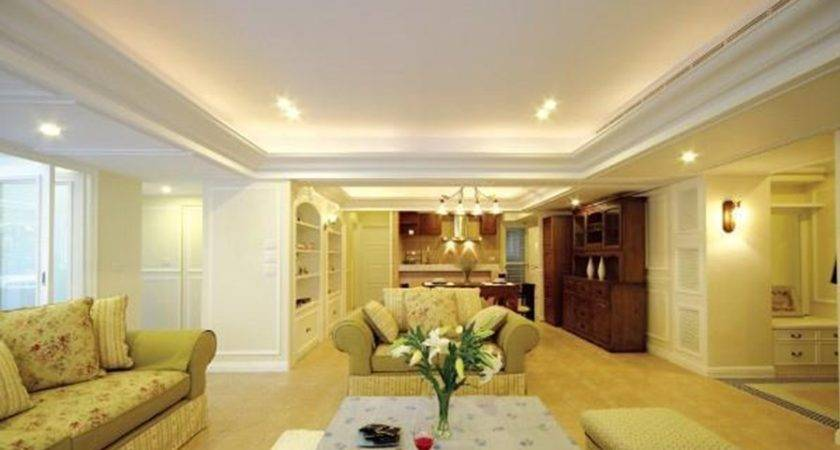 Yellow European Style Living Room Dining