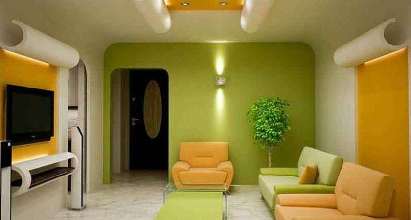 Yellow Green Living Room Modern House