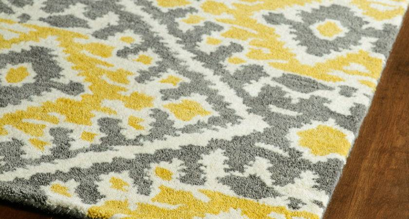 Yellow Grey Global Inspirations Rug Rosenberryrooms