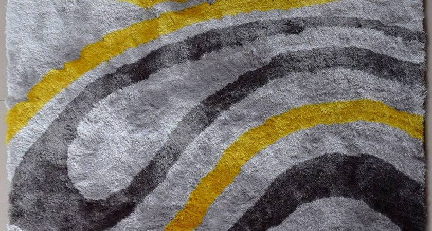 Yellow Grey Rug Rugs Ideas