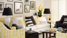 Yellow Monochrome Living Room Decorating