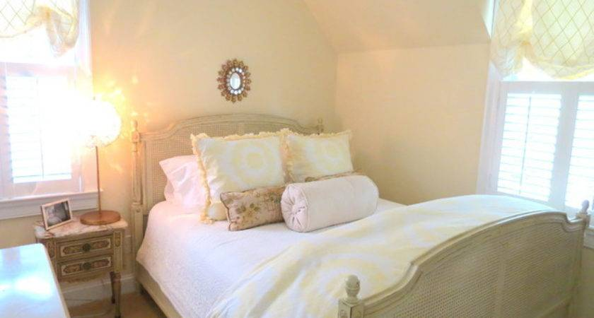 Yellow White Soft Pretty Bedroom