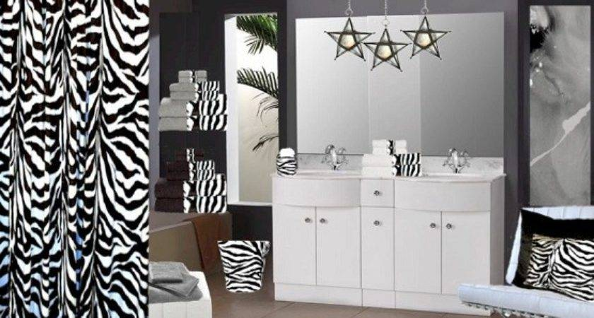 Zebra Print Bathroom Decor Accessories Home Interiors