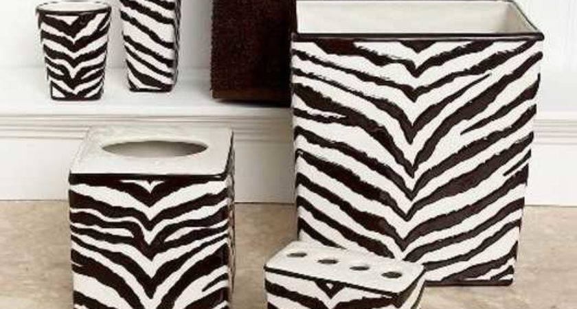 Zebra Prints Decorative Patterns Modern Bathroom